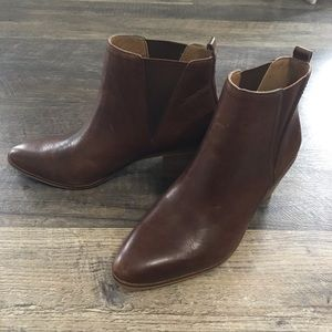 Lucky Brand leather brown boots, 6.5 Womens Shoes